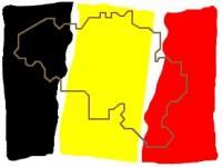 drapeau carte belgique